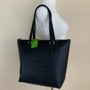 Kate Spade Larchmont Ave Logo Penny Tote Bag New